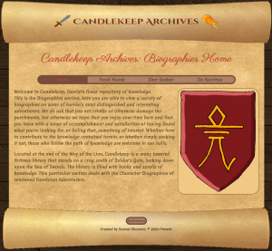 The website design for the Cybercultures Unit I did as part of my BIT Games Development Course
