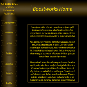 The design I created for the Boostworks website