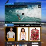 The design I created for the Surf Australia website