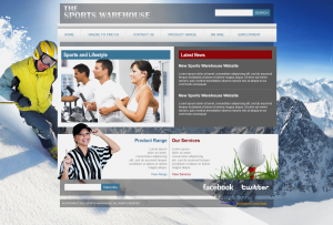 The Sports Warehouse 'Home' page