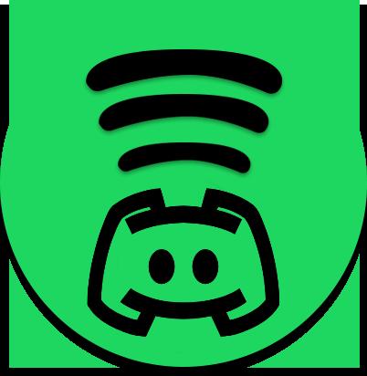 Source: https://maxcdn.icons8.com/Android_L/PNG/512/Logos/discord_logo-512.png + http://orig03.deviantart.net/8d01/f/2017/030/9/d/spotify_by_nrddnshn-dax9nry.png