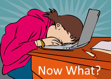Source: https://thumbs.dreamstime.com/t/exasperated-frustrated-woman-leaning-her-laptop-46387585.jpg